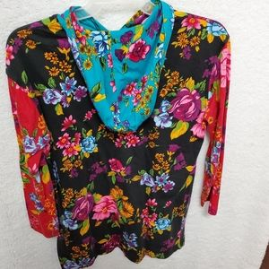 Carol Little Floral Jacket Pull over Tee